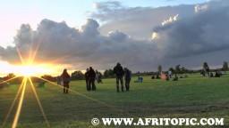 Sunset at Flammende Sterne Event 2014 - 1